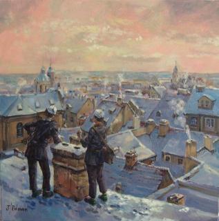 Jan Odehnal - Kominíci na Malé Straně