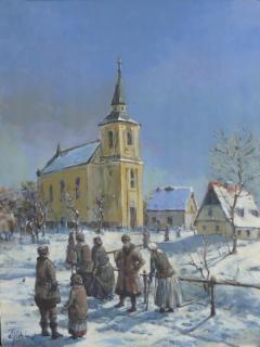 Jan Odehnal - Před kostelem